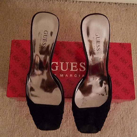 Guess by Marciano Shoes - Guess By Marciano Black Suede Mules
